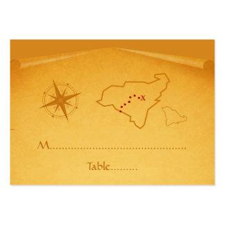 Tarjeta del lugar del mapa del tesoro tarjeta de visita