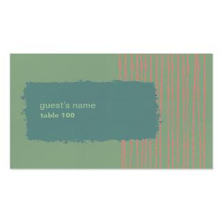 Tarjeta del lugar del mar tarjetas de visita
