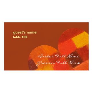 Tarjeta del lugar del moho del otoño tarjetas de visita
