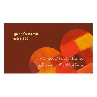 Tarjeta del lugar del pueblo del otoño tarjetas de visita