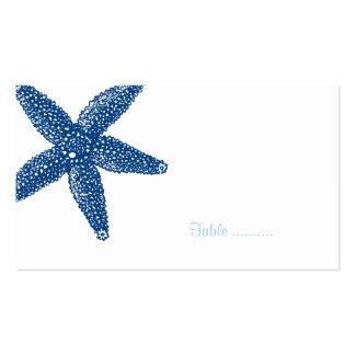 Tarjeta del lugar del Seashell de las estrellas de Tarjetas Personales