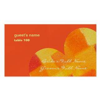 Tarjeta del lugar del tango del verano tarjetas de visita
