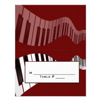 Tarjeta del lugar del teclado invitación