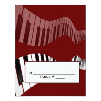 Tarjeta del lugar del teclado invitación 10,8 x 13,9 cm