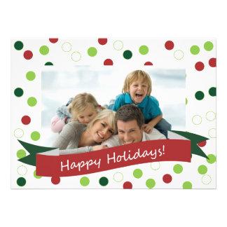 tarjeta del lunar de 5,5 x 7,5 fotos con buenas fi invitación