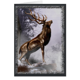 Tarjeta del macho del invierno
