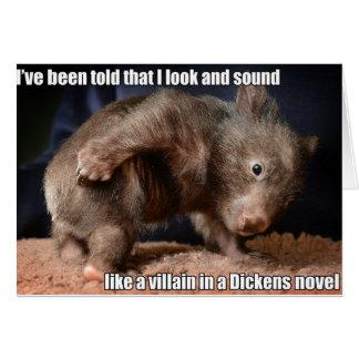 Tarjeta del malvado de Dickens