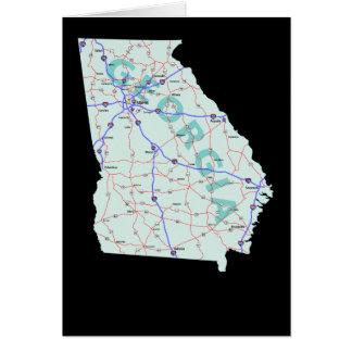 Tarjeta del mapa de Georgia