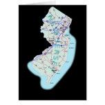 Tarjeta del mapa de New Jersey