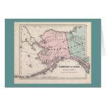 Tarjeta del mapa/del pan amargo de Alaska