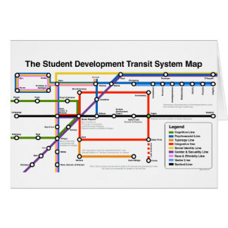 Tarjeta del mapa del sistema de transporte del
