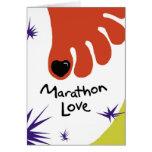 Tarjeta del Marathoner de la enhorabuena - uña del