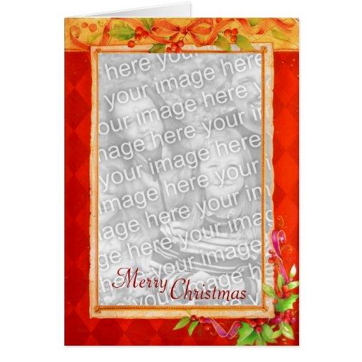 Tarjeta del marco de la foto del navidad