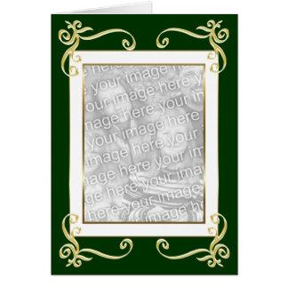 Tarjeta del marco del oro