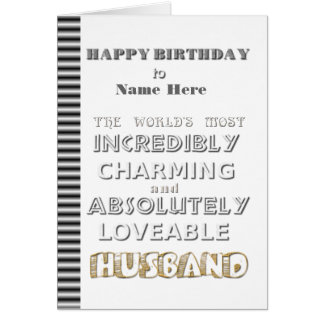 Tarjeta del marido del feliz cumpleaños
