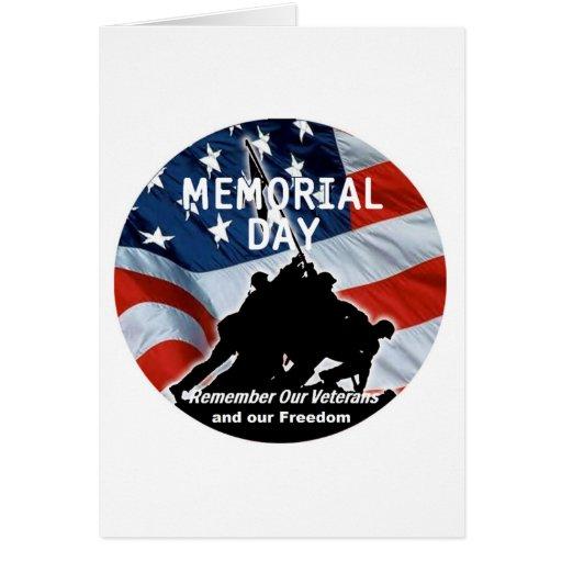 Tarjeta del Memorial Day