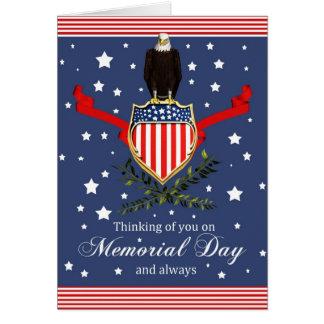 Tarjeta del Memorial Day - Eagle y bandera