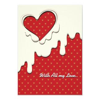 """Tarjeta del mensaje para el el día de San Valentín Invitación 5"""" X 7"""""""