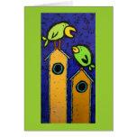 tarjeta del mentor con los pájaros y los