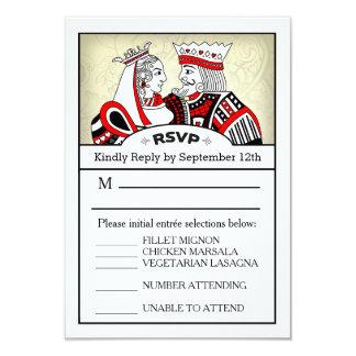 """tarjeta del menú de 3.5x5 RSVP - naipe del rey y Invitación 3.5"""" X 5"""""""