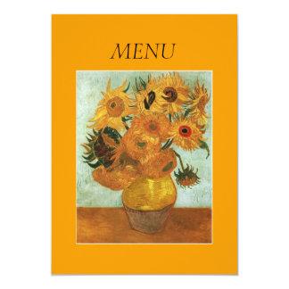 """Tarjeta del menú de la cena, florero con doce invitación 5"""" x 7"""""""