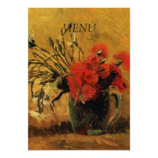 """tarjeta del menú de la cena, invitación 5"""" x 7"""""""