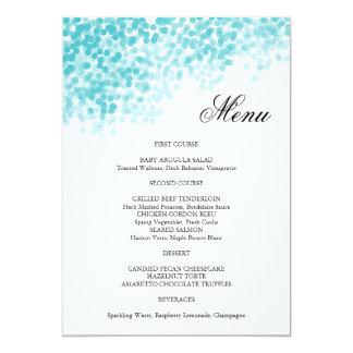 Tarjeta del menú de la ducha de la luz de la invitación 12,7 x 17,8 cm