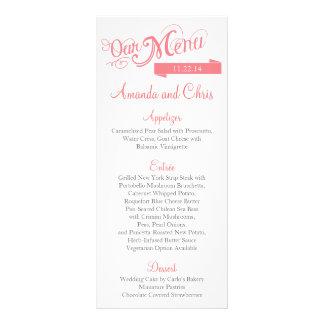 Tarjeta del menú de Love Story Tarjeta Publicitaria A Todo Color
