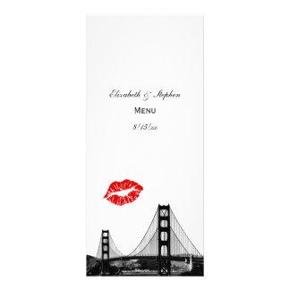 Tarjeta del menú del beso del horizonte #2 de San Tarjetas Publicitarias Personalizadas