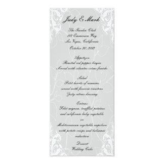 """Tarjeta del menú del boda de Halloween del gato y Invitación 4"""" X 9.25"""""""