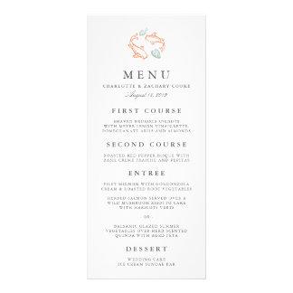 Tarjeta del menú del boda de la charca de Koi Lona Personalizada