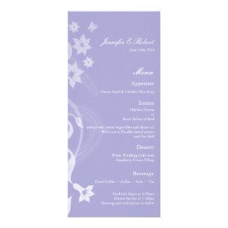 Tarjeta del menú del boda de la rama de la lavanda tarjeta publicitaria a todo color