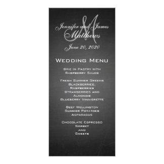 Tarjeta del menú del boda del monograma de la piza tarjeta publicitaria personalizada
