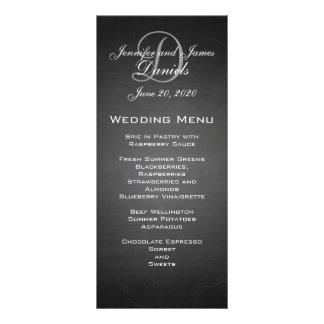 Tarjeta del menú del boda del monograma de la piza plantillas de lonas