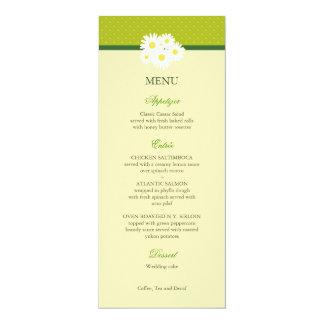 Tarjeta del menú del boda del ramo de la margarita invitación 10,1 x 23,5 cm