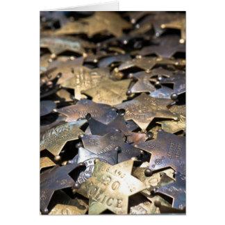 Tarjeta del mercado de pulgas - insignias