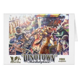 Tarjeta del mercado del dinosaurio de Dinotown