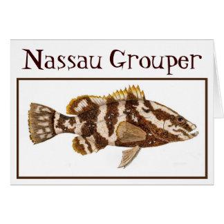 Tarjeta del mero de Nassau