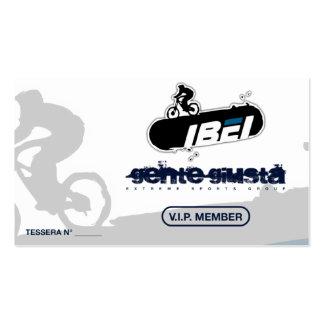 Tarjeta del miembro de IBEI Tarjetas De Visita