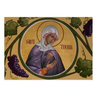 Tarjeta del Mini-Rezo de Thekla del santo Plantilla De Tarjeta De Visita