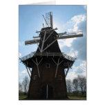 Tarjeta del molino de viento de Holanda