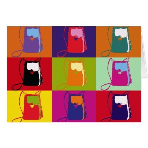 Tarjeta del monedero del arte pop