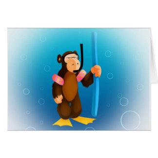 Tarjeta del mono del equipo de submarinismo