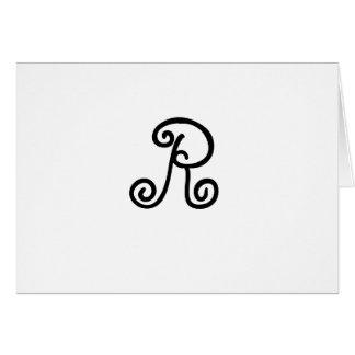 Tarjeta del monograma de R