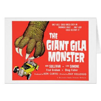 """Tarjeta """"del monstruo del Gila gigante"""""""