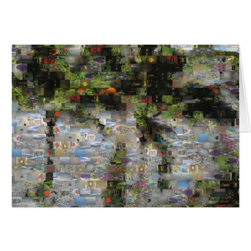 Tarjeta del mosaico de la palmera