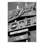 Tarjeta del motel de Delux