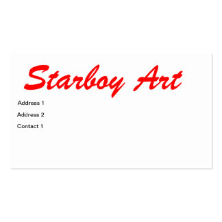 tarjeta del muchacho de la estrella tarjetas de visita