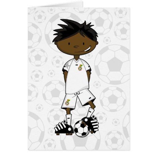Tarjeta del muchacho del fútbol de Ghanian