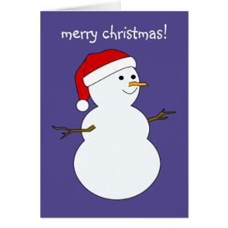 tarjeta del muñeco de nieve